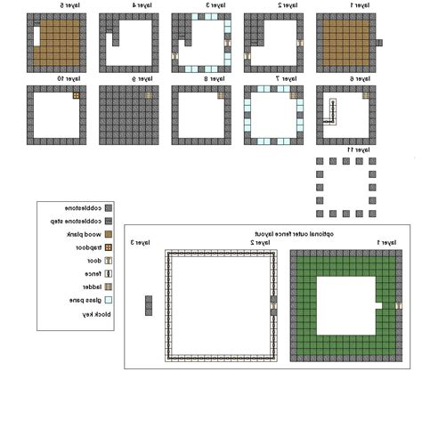 minecraft simple house blueprints places  visit