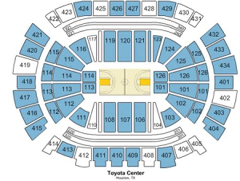 Rockets Tickets Toyota Center by Houston Rockets Seating Chart With Seat Numbers Review