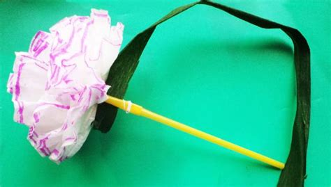 recycling plastic straws  making paper flowers simple