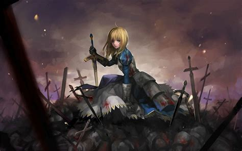wallpaper fate series anime girls fate stay night