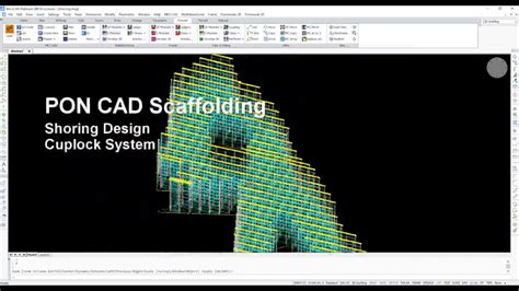 Design Shoring Scaffolding With Pon Cad Software Youtube