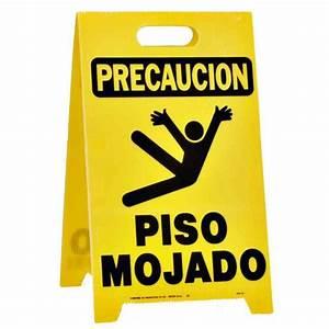 HY-KO 20 in x 12-1/4 in Plastic Precaucion Piso Mojado