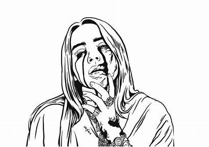 Billie Eilish Canvas Drawing Behance Digital