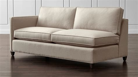 Crate And Barrel Apartment Sofa by Dryden Left Arm Apartment Sofa Flax Crate And