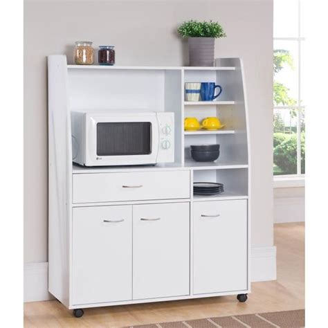 meubles de cuisines kitchen desserte de cuisine 100cm blanc mat achat