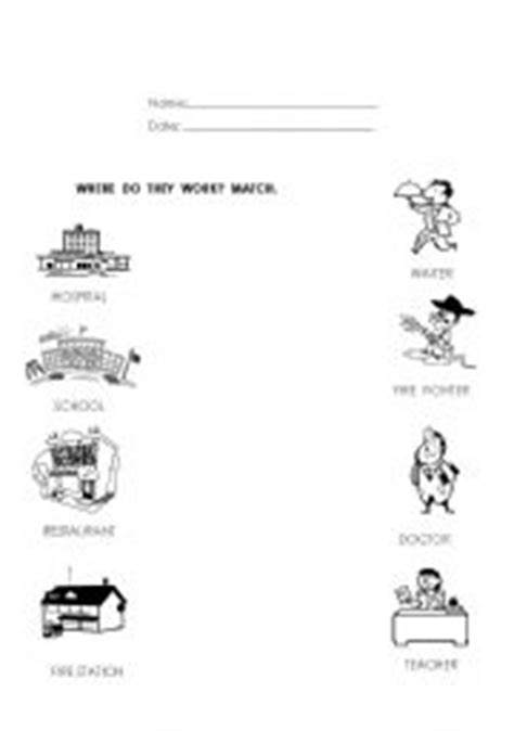 english worksheets jobs occupations worksheets page