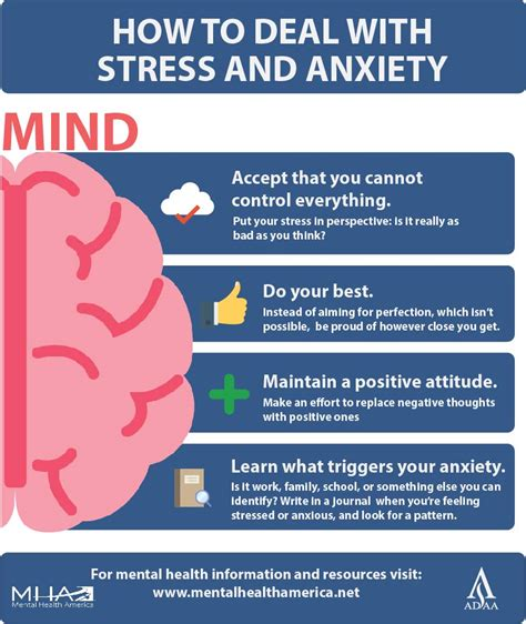 Infographic How To Deal With Stress And Anxiety Mental