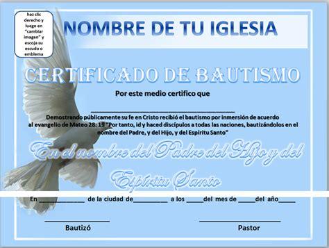 certificados de bautismo cristiano para imprimir imagui