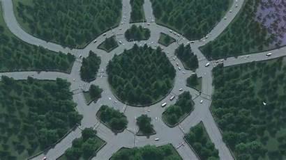Roundabout Magic Swindon England Intersection Traffic Roundabouts