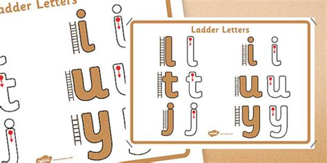 ladder letters formation display poster letter formation
