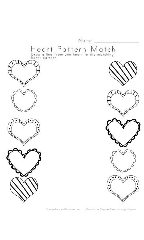 worksheet matching worksheets preschool