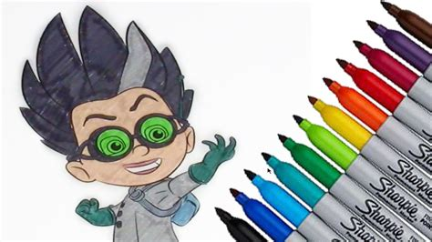 romeo pj masks coloring page   hd video  kids