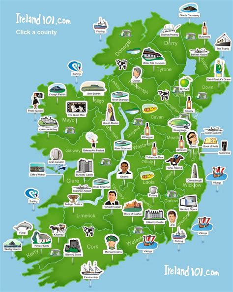 Ireland 101  Map Of Ireland Super Simplistic But Easy To