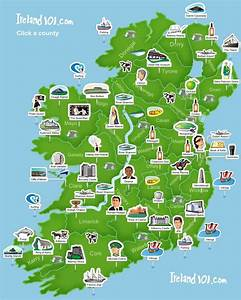 Ireland 101 - Map of Ireland. Super simplistic but easy to ...