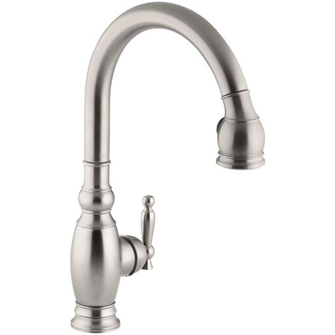 kohler single handle kitchen faucet kohler vinnata single handle pull down sprayer kitchen