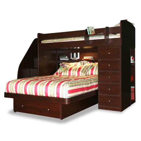 homeofficedecoration twin  full bunk beds stairs