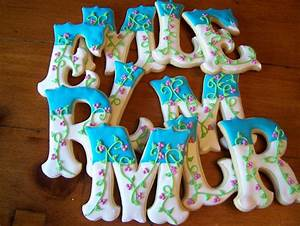 4quot letter cookies cookie connection With letter cookies