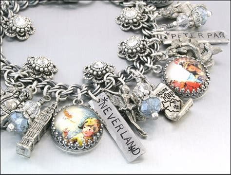 Off To Neverland, Peter Pan And Tinkerbell Charm Bracelet