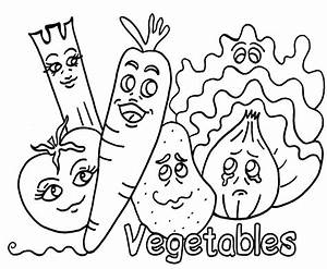 Vegetable Coloring Pages 1