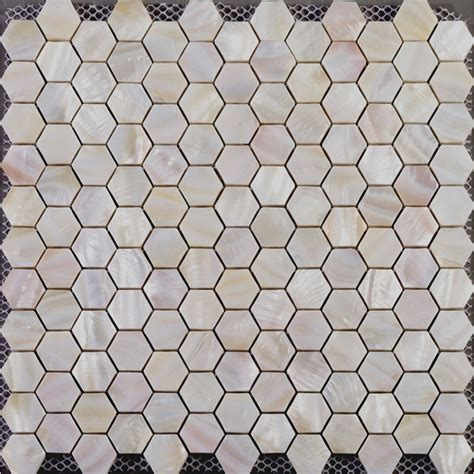 Pearl Mosaic Bathroom Tiles by Hexagon Mosaic Of Pearl Tiles Backsplash Cheap