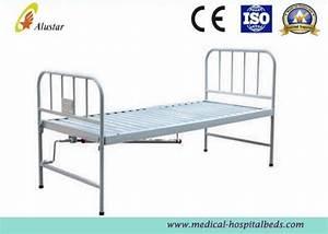 Stainless Steel Batten Medical Hospital Bed Single Crank
