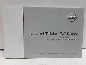 2017 Nissan Altima Sedan Owners Manual Book