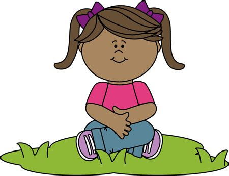 sit nicely clipart black and white kid sitting in grass clip kid sitting in grass image