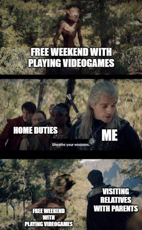 prepare  binge    witcher memes  pics