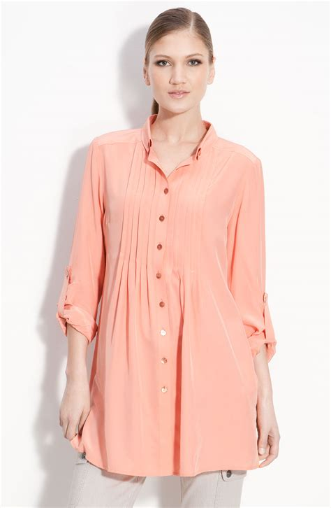 tunic blouses for pink tunic blouse silk blouses