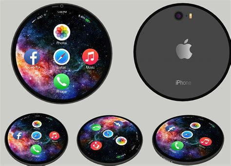 iphone concept  totally circular  feels   badge  sorts concept phones