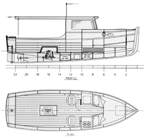 Boat Plans by Launch Cruiser 24 Launch Cruiser Power Boat