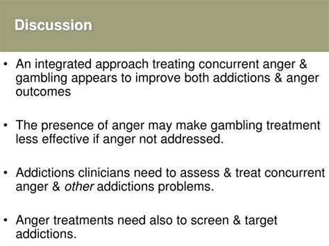 Ppt  Focus On Anger In The Treatment Of Gambling Problems
