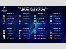 Grupos de la Champions League 20182019, en directo