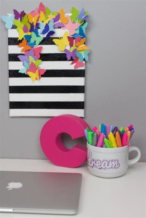 craft ideas on canvas diy striped butterfly canvas a craft in your day 3928