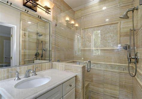 Sandstein Fliesen Bad by Sandstone Bathroom With White Vanity Home Design Exles