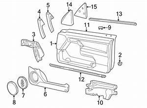 2001 Volkswagen Cabrio Door Trim Panel Pocket  Storage Box