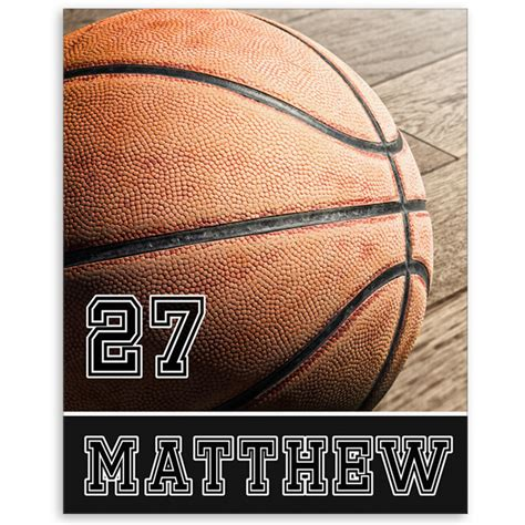 Basketball Bedroom Decor by Personalized Basketball Bedroom Decor Canvas Print