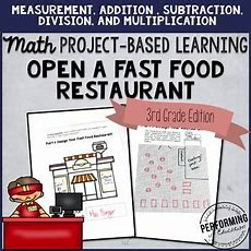 Project Based Learning For 3rd Open A Fast Food Restaurant  Project Based Learning And Math