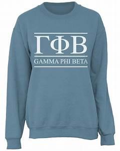 gamma phi beta letters sweatshirt by adam block design With custom greek letter sweatshirts
