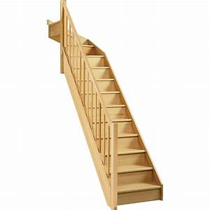 Escalier 1 4 Tournant Gauche : escalier soft quart tournant haut gauche h274 rampe classic bois leroy merlin ~ Dode.kayakingforconservation.com Idées de Décoration