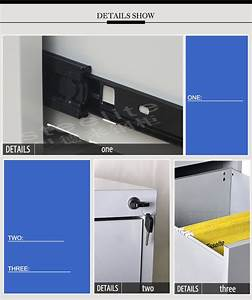 Standard Taille H731XW452XD620mm Bureau En Mtal 2 Tiroirs