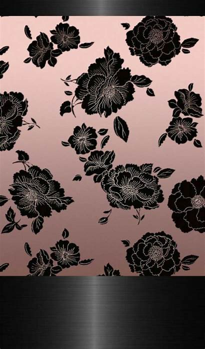 Rose Gold Background Iphone Lace Marble Flower