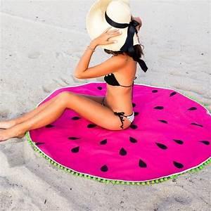 Serviette De Plage Ronde Eponge : 17 meilleures id es propos de serviette de plage sac sur ~ Teatrodelosmanantiales.com Idées de Décoration