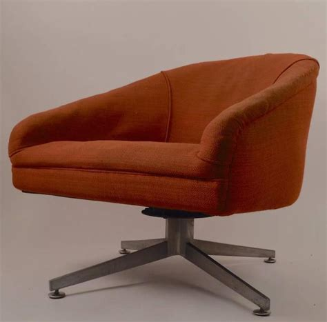 pair of swivel chairs designed by ward bennet for lehigh
