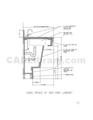ada kitchen sink requirements knee space at ada sink cabinet 2d cad symbols library 3985