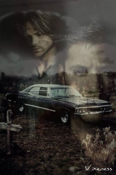 supernatural 67 chevy impala iphone wallpaper by by