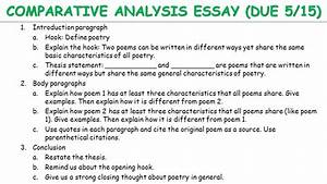 Comparative Contrast Essay 016 Book Analysis Essay Example Writing Comparative