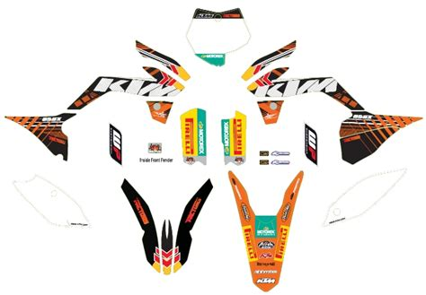 fowlers offroad grafik kit factory sx