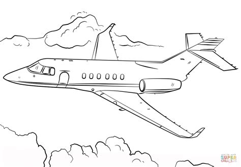 Coloring Airplane by Jet Airplane Coloring Page Free Printable Coloring Pages
