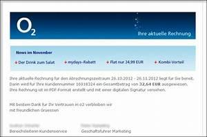 Gefälschte O2 Rechnung : falsche online rechnungen verseuchte e mails im umlauf ~ Themetempest.com Abrechnung